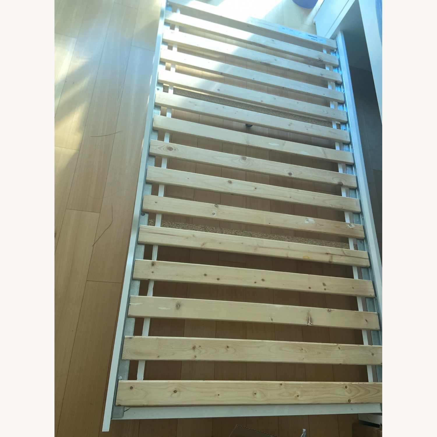 IKEA Twin Bed frame w/pull-out Bed + Storage - image-1