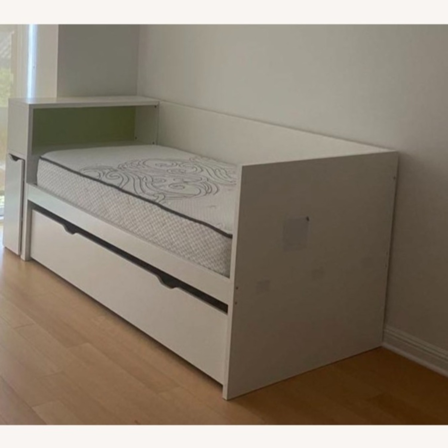 IKEA Twin Bed frame w/pull-out Bed + Storage - image-2