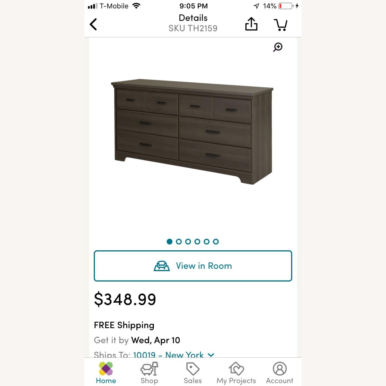 Wayfair 6 Drawer Double Dresser - Grey Maple - image-3