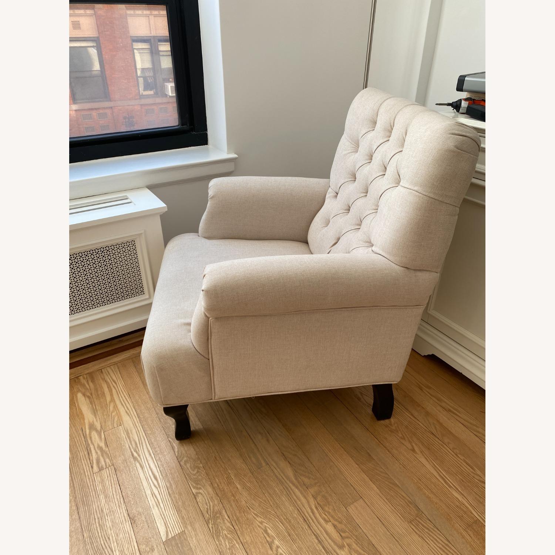 Lark Interiors Joussard Beige Linen Club Chairs - image-3
