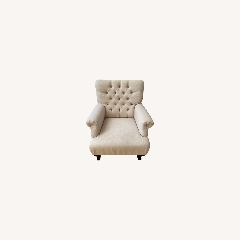 Lark Interiors Joussard Beige Linen Club Chairs - image-0