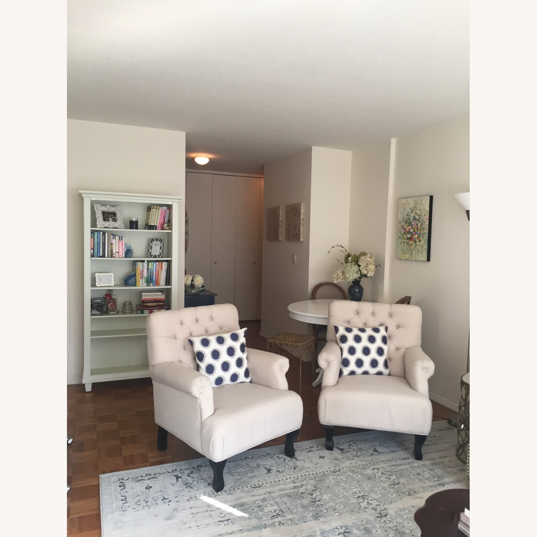 Lark Interiors Joussard Beige Linen Club Chairs - image-1