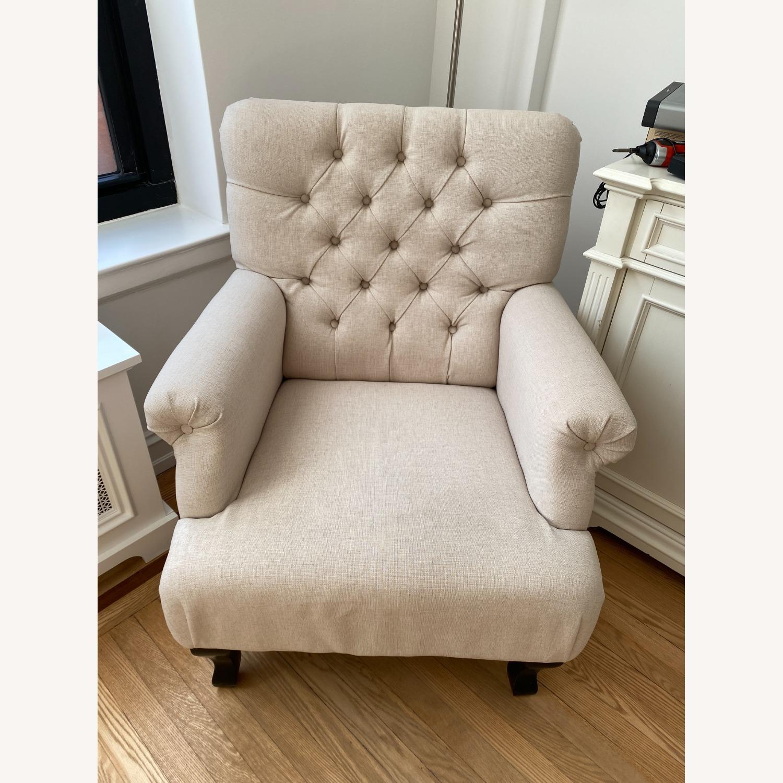 Lark Interiors Joussard Beige Linen Club Chairs - image-2