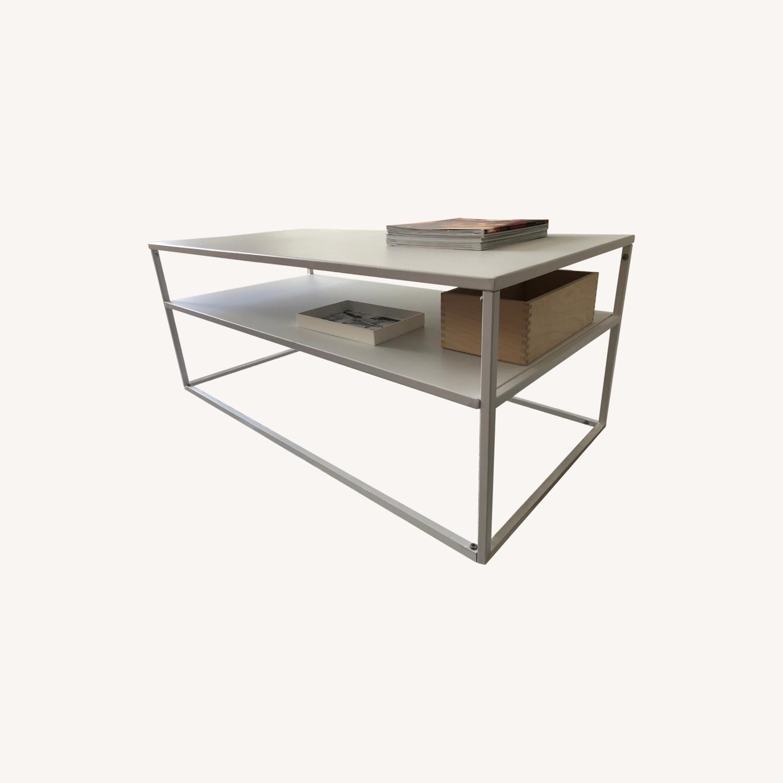 Target White Modern Coffee Table Metal - image-0