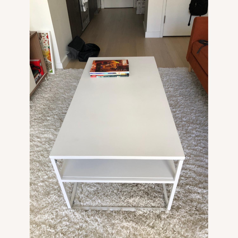 Target White Modern Coffee Table Metal - image-3