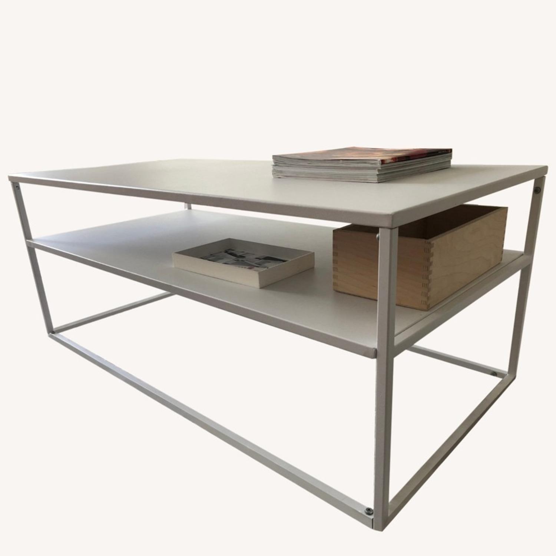 Target White Modern Coffee Table Metal - image-5