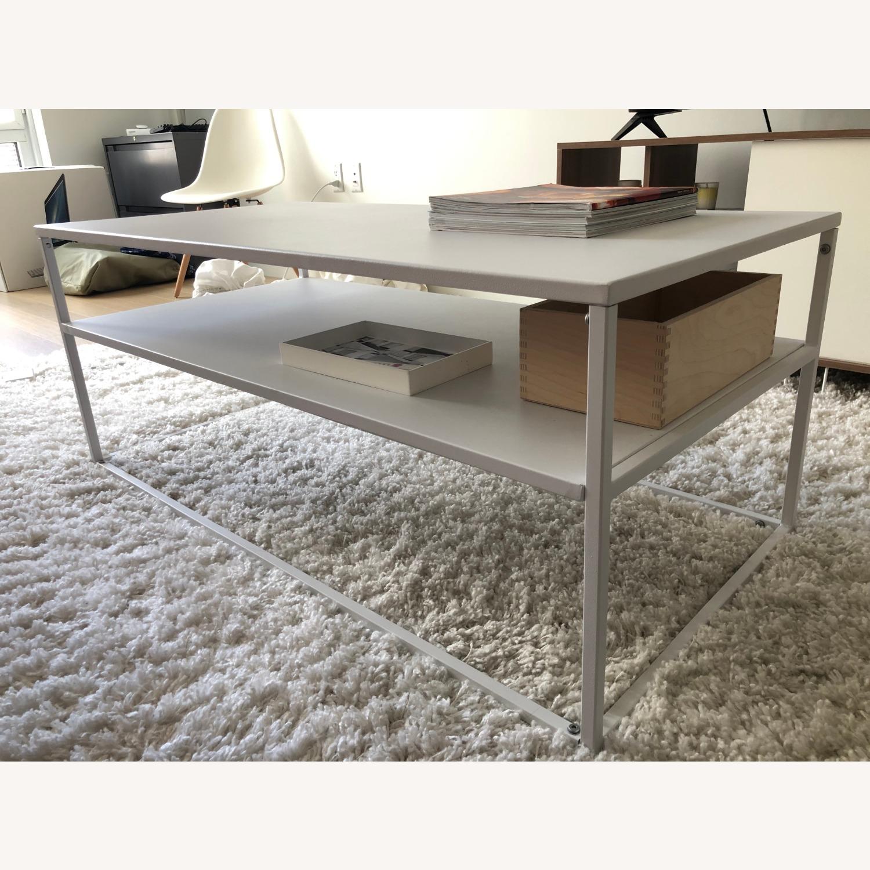 Target White Modern Coffee Table Metal - image-1