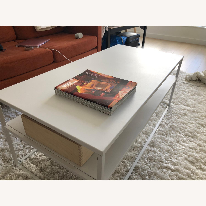 Target White Modern Coffee Table Metal - image-2