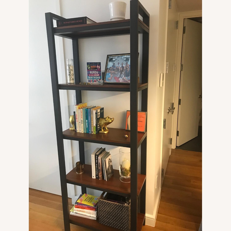 Crate & Barrel Pilsen Bookcase with Walnut Shelves - image-2