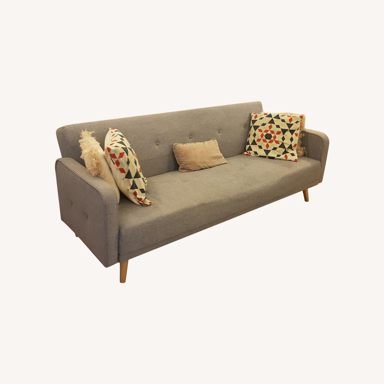 Grey Sofa Bed - image-0