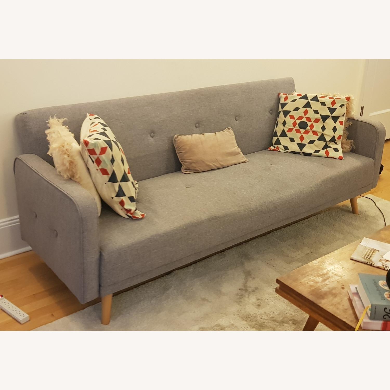 Grey Sofa Bed - image-1