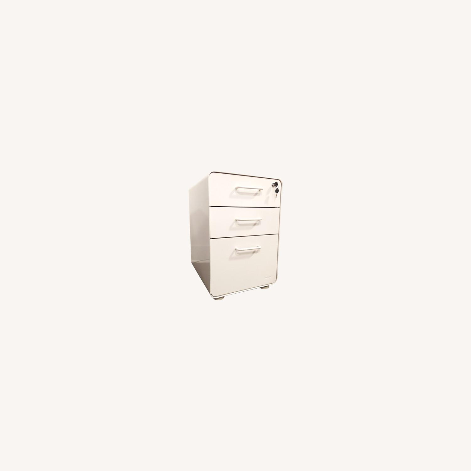 Poppin White Stow 3-Drawer File Cabinet - image-0