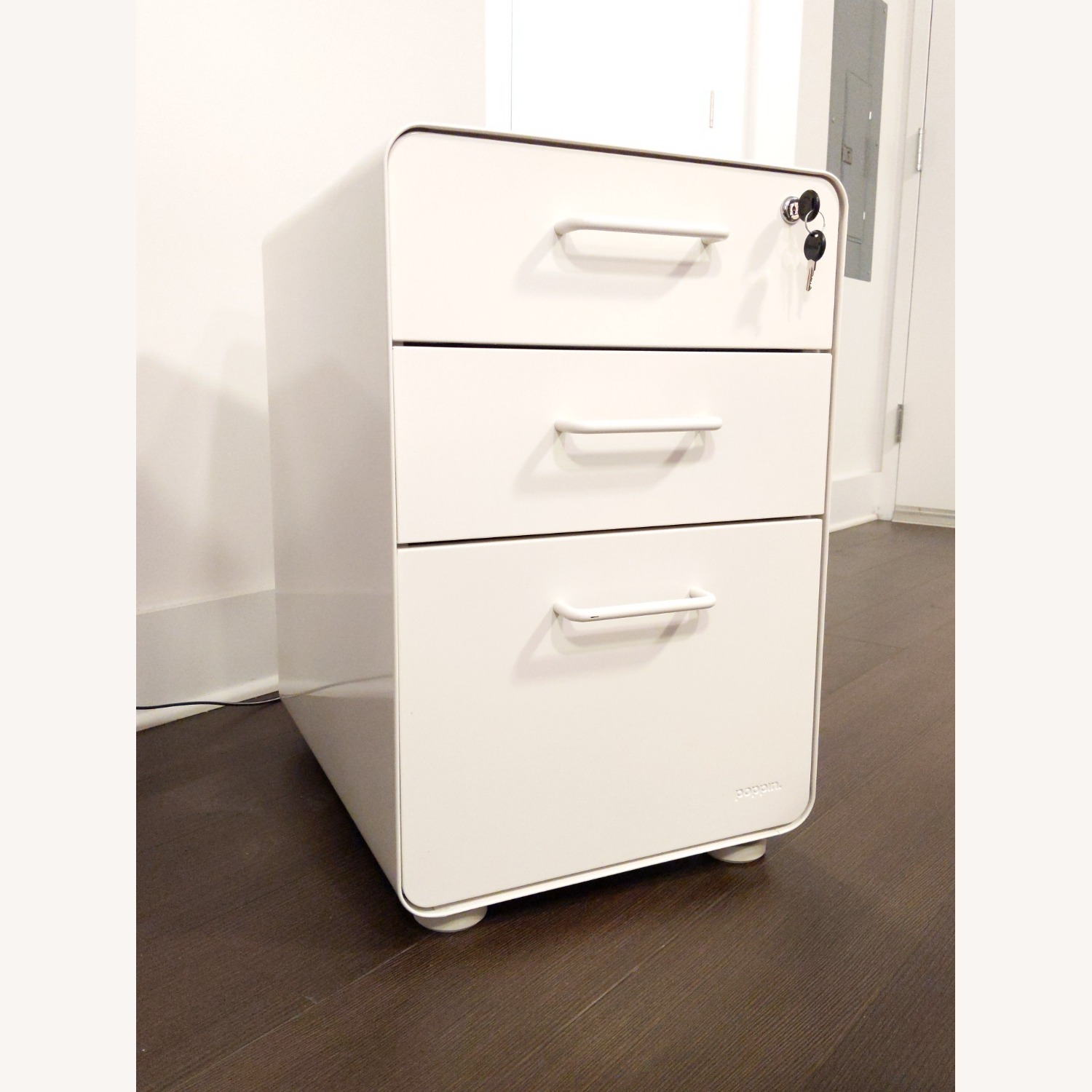 Poppin White Stow 3-Drawer File Cabinet - image-2