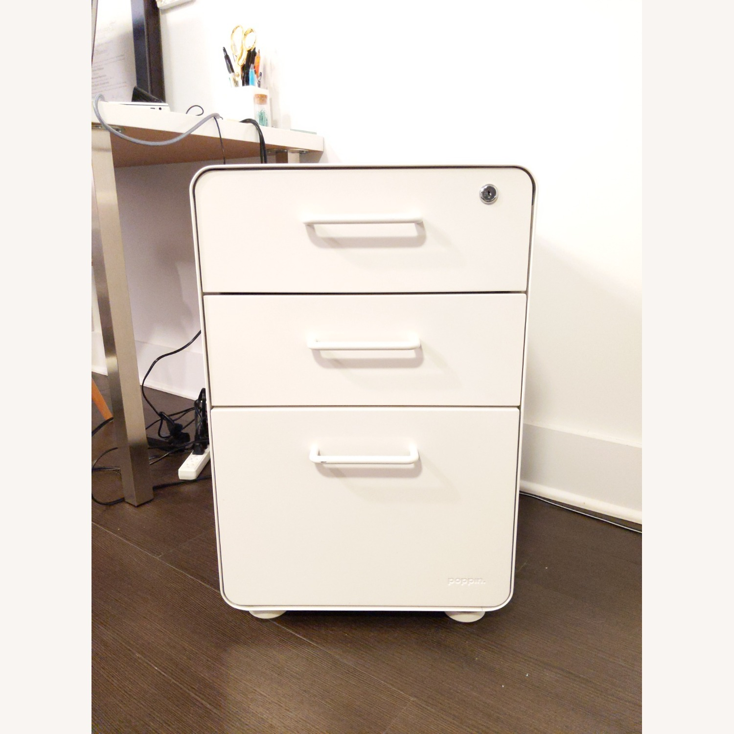 Poppin White Stow 3-Drawer File Cabinet - image-4