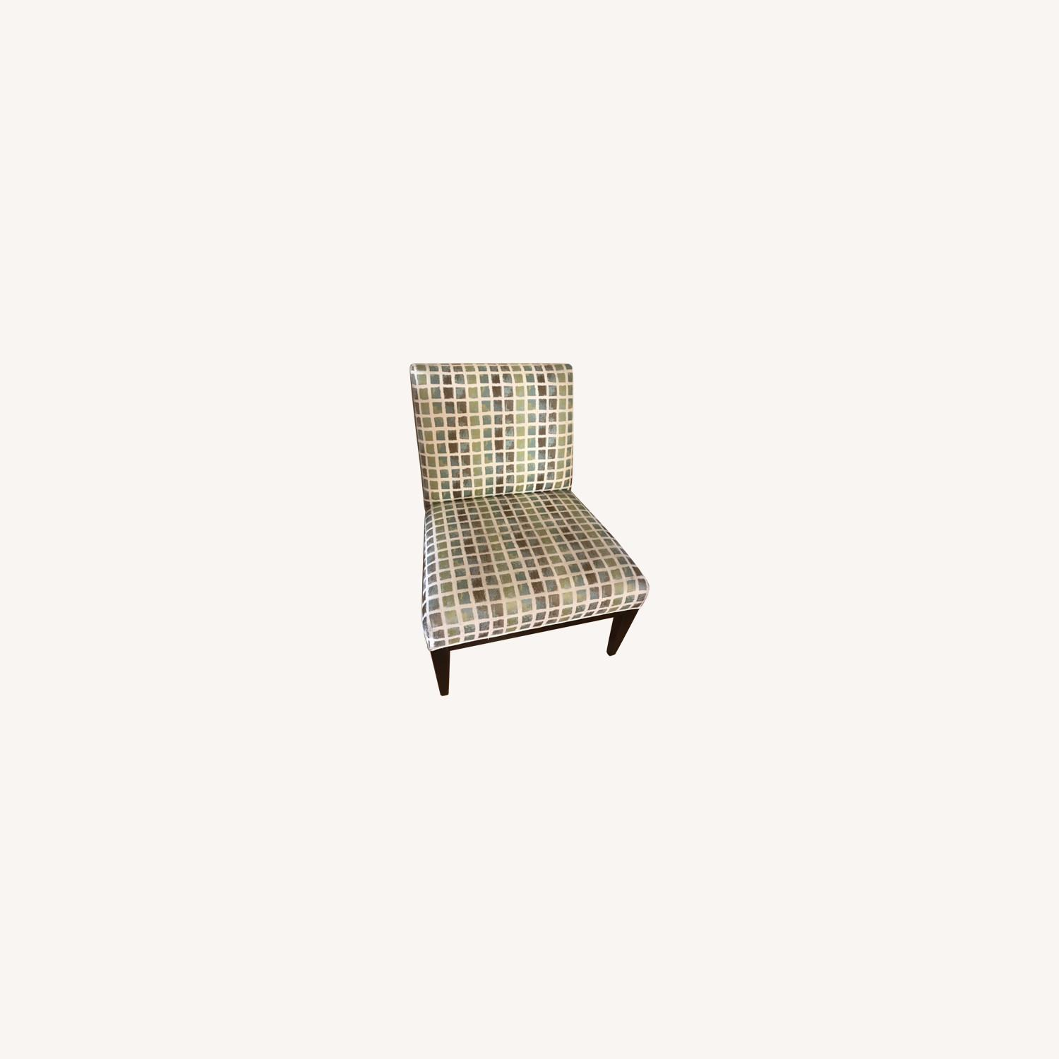 Wood and Fabric Accent Chair - image-0