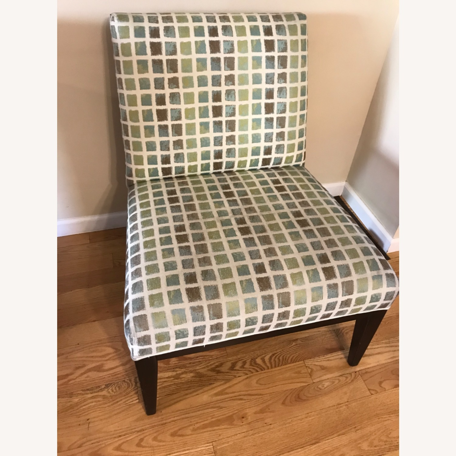 Wood and Fabric Accent Chair - image-1