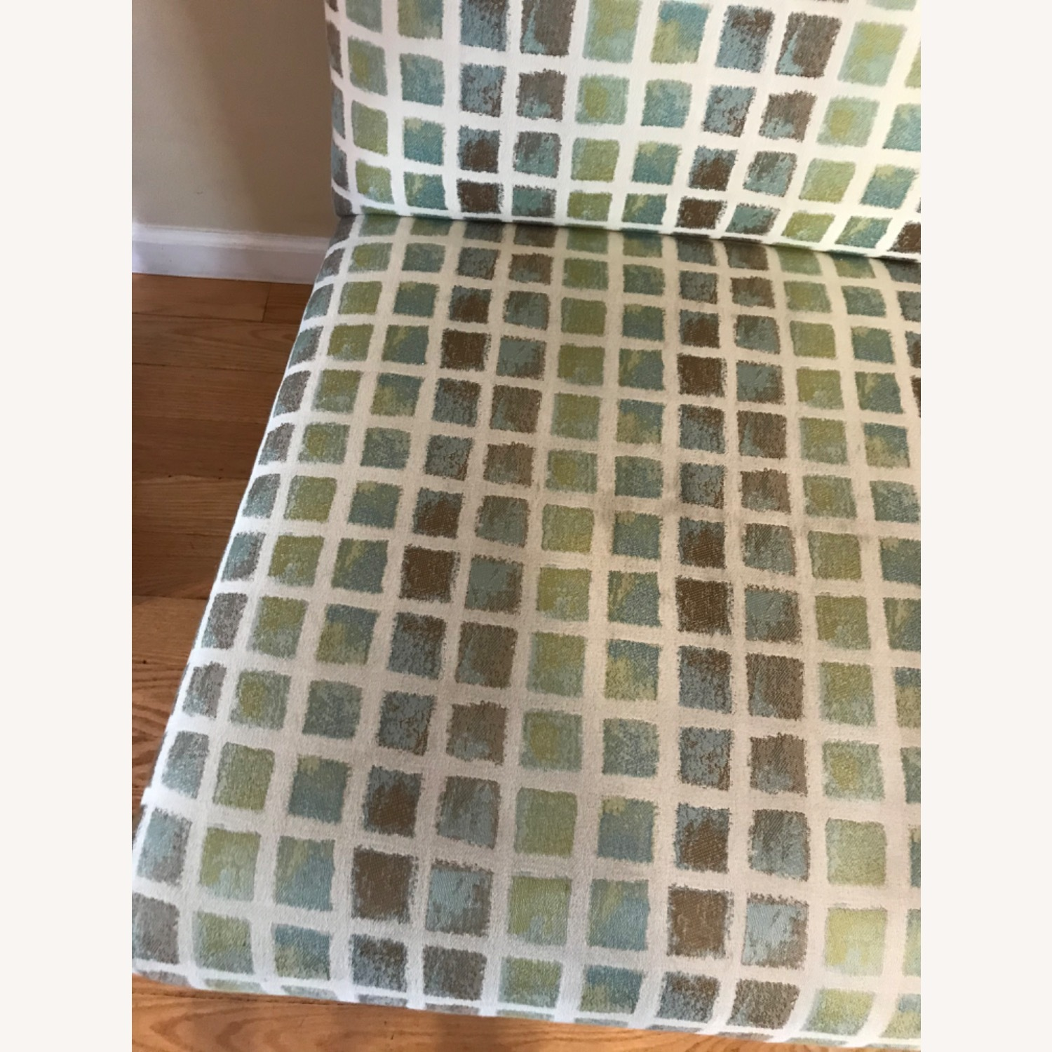 Wood and Fabric Accent Chair - image-3