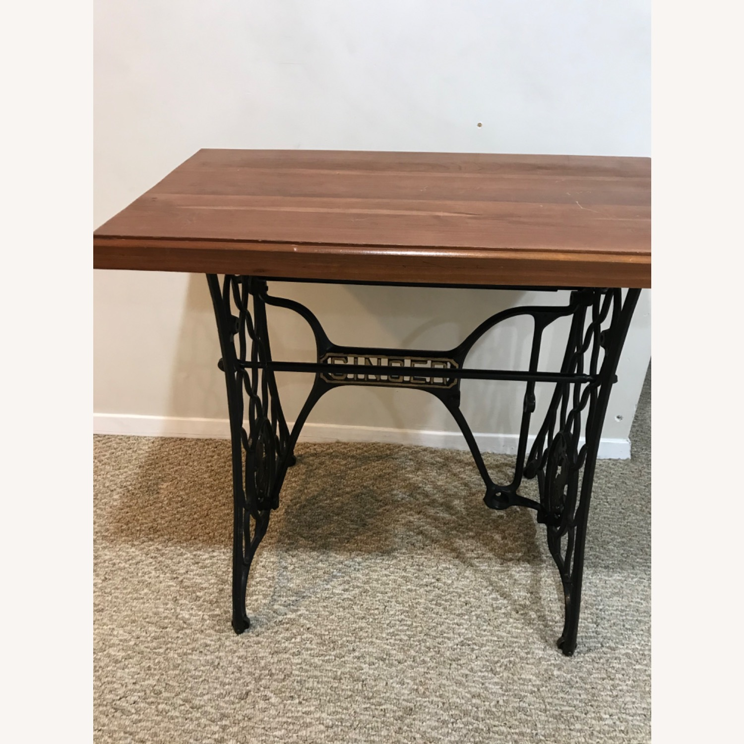 Repurposed Antique Sewing Table - image-2