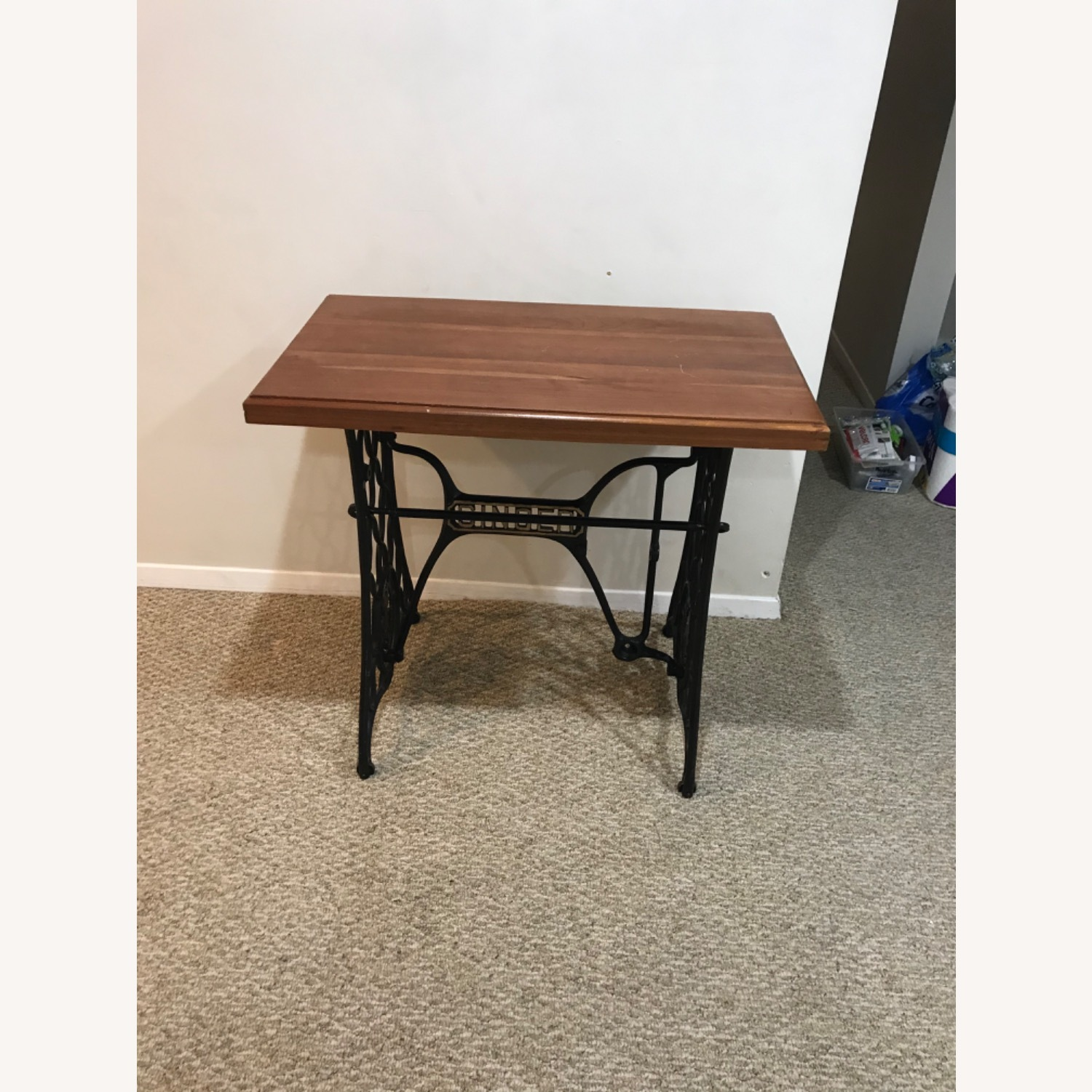 Repurposed Antique Sewing Table - image-1