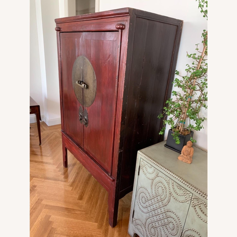 Vintage Chinese Wardrobe Cabinet. - image-1