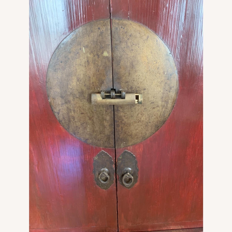 Vintage Chinese Wardrobe Cabinet. - image-5