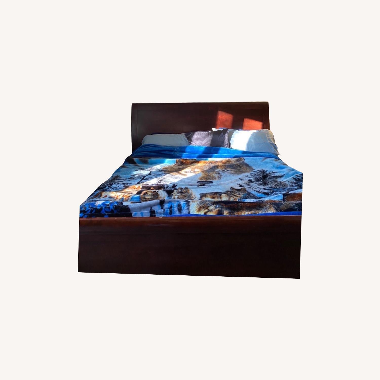 Arhaus Brown King Size Sleigh Bed - image-0