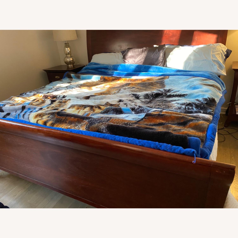 Arhaus Brown King Size Sleigh Bed - image-2