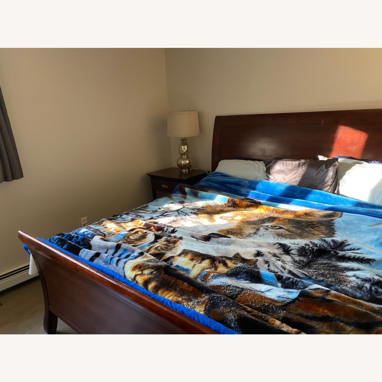 Arhaus Brown King Size Sleigh Bed - image-3