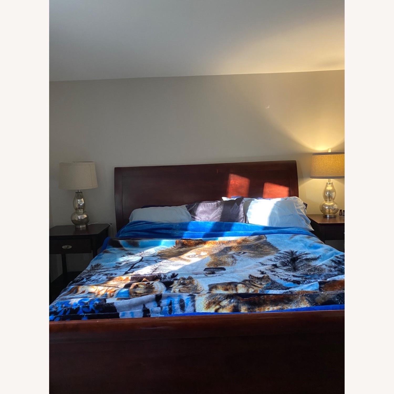 Arhaus Brown King Size Sleigh Bed - image-1