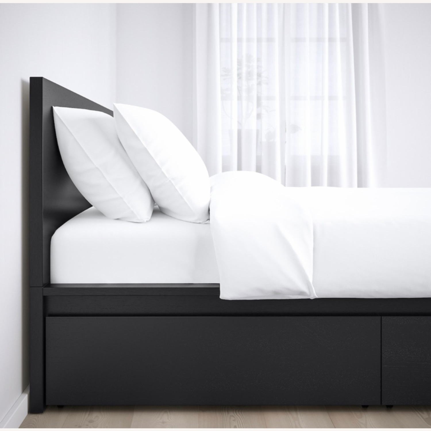 IKEA MALM High Bed Frame / 2 Storage Boxes - image-2