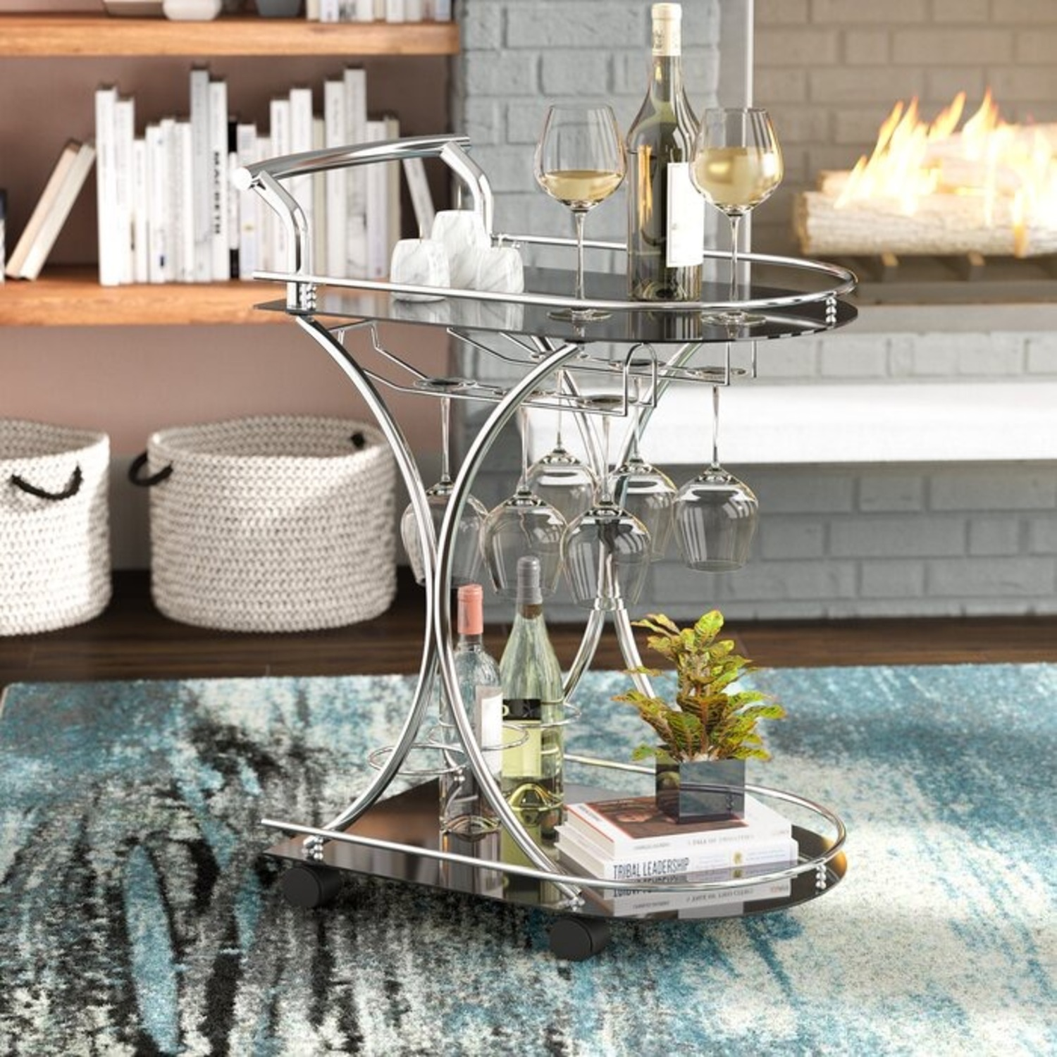 Wayfair Bar Cart - image-1