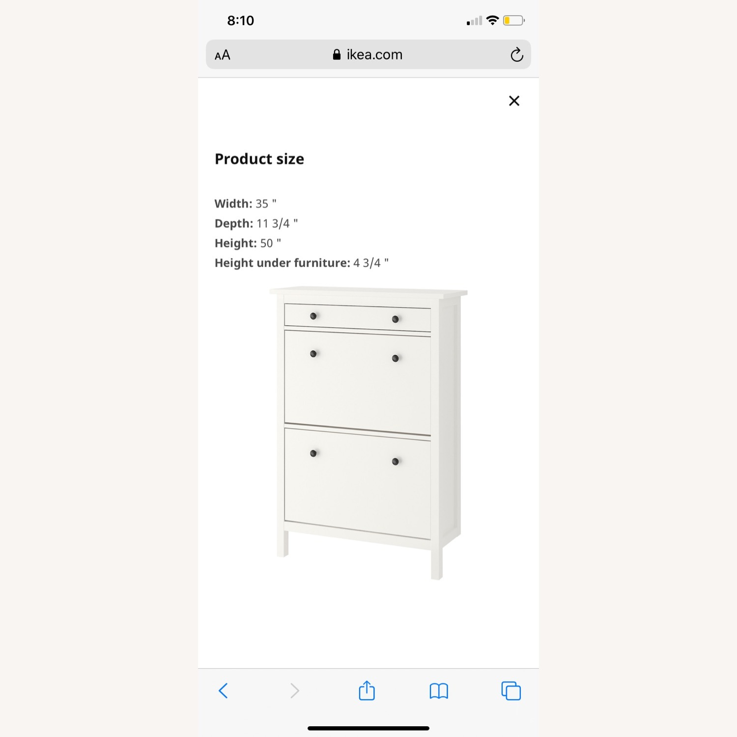 IKEA Shoe Cabinet with 2 Compartments - image-2