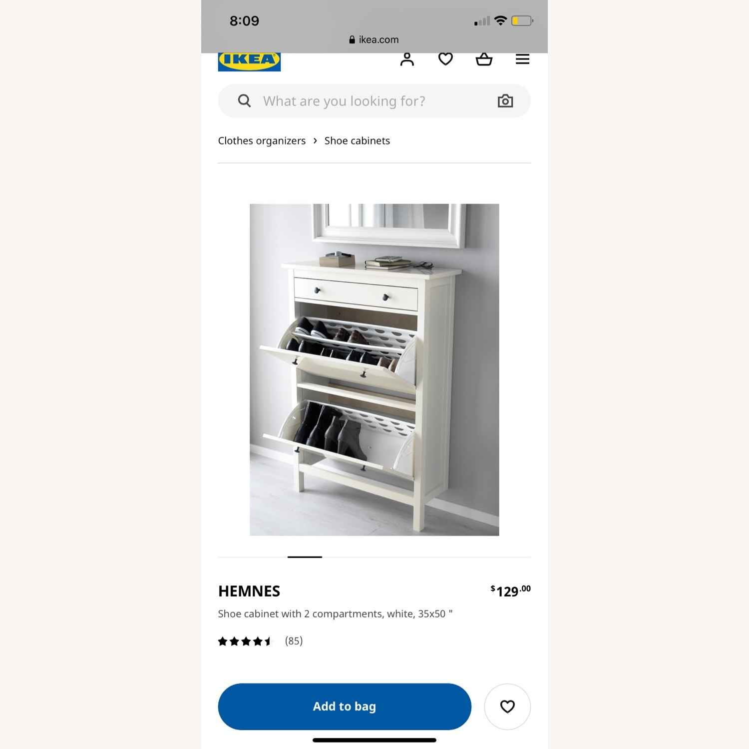IKEA Shoe Cabinet with 2 Compartments - image-1