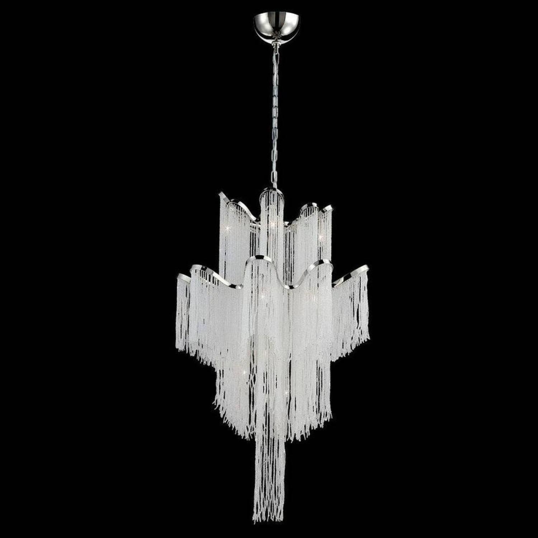 Eurofase Elena Style Crystal and Chrome Chandelier - image-1