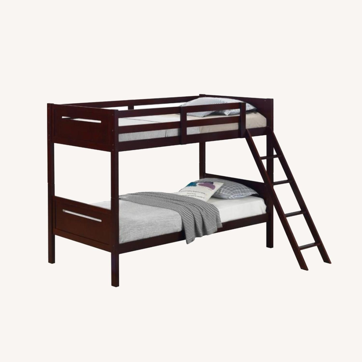 Bunk Bed In Espresso Solid Rubberwood Finish - image-5