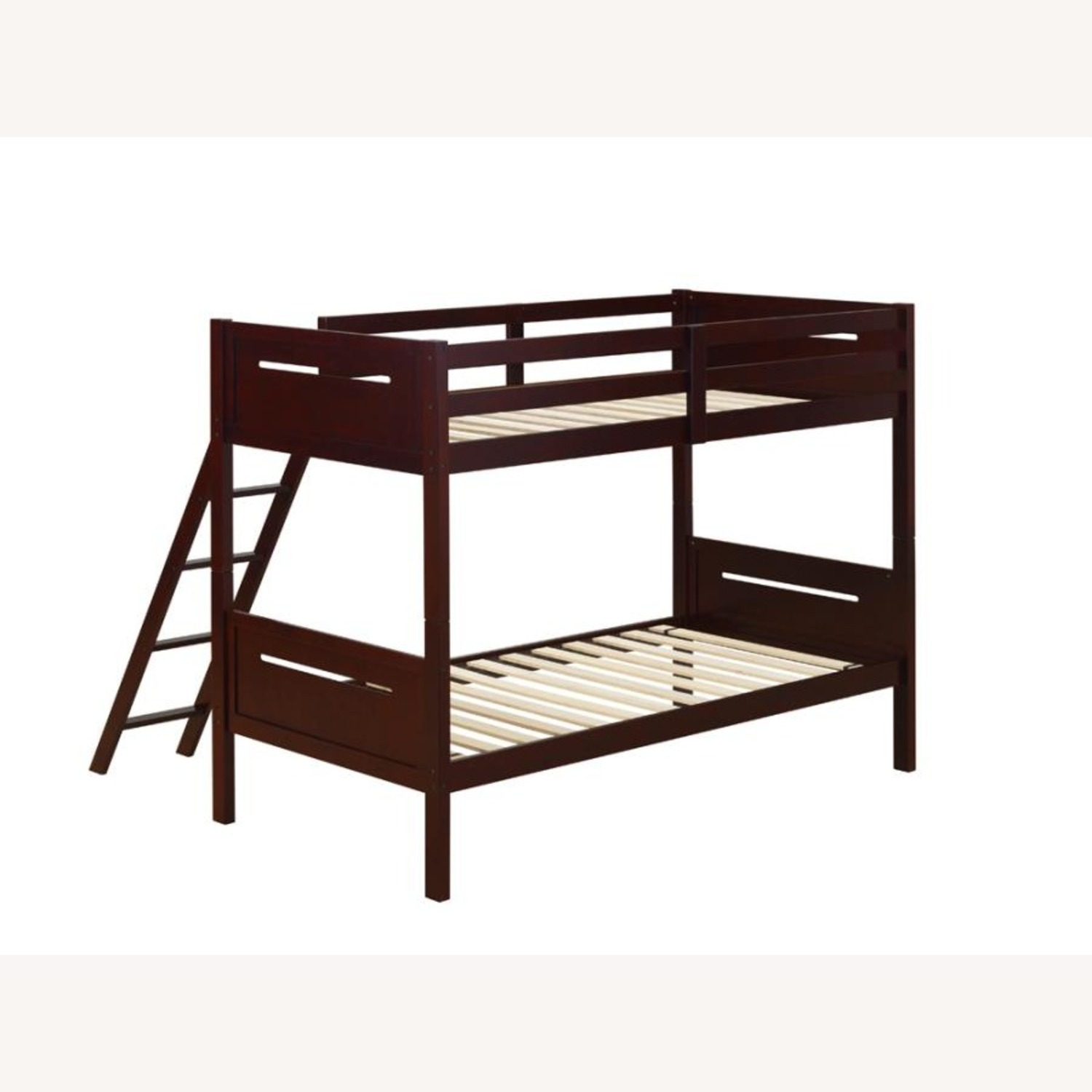 Bunk Bed In Espresso Solid Rubberwood Finish - image-2
