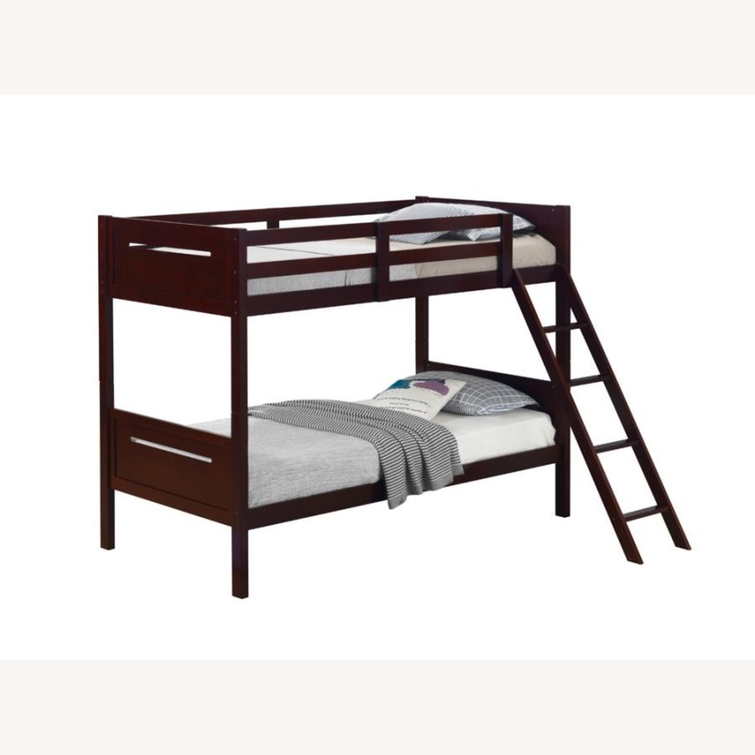 Bunk Bed In Espresso Solid Rubberwood Finish - image-0