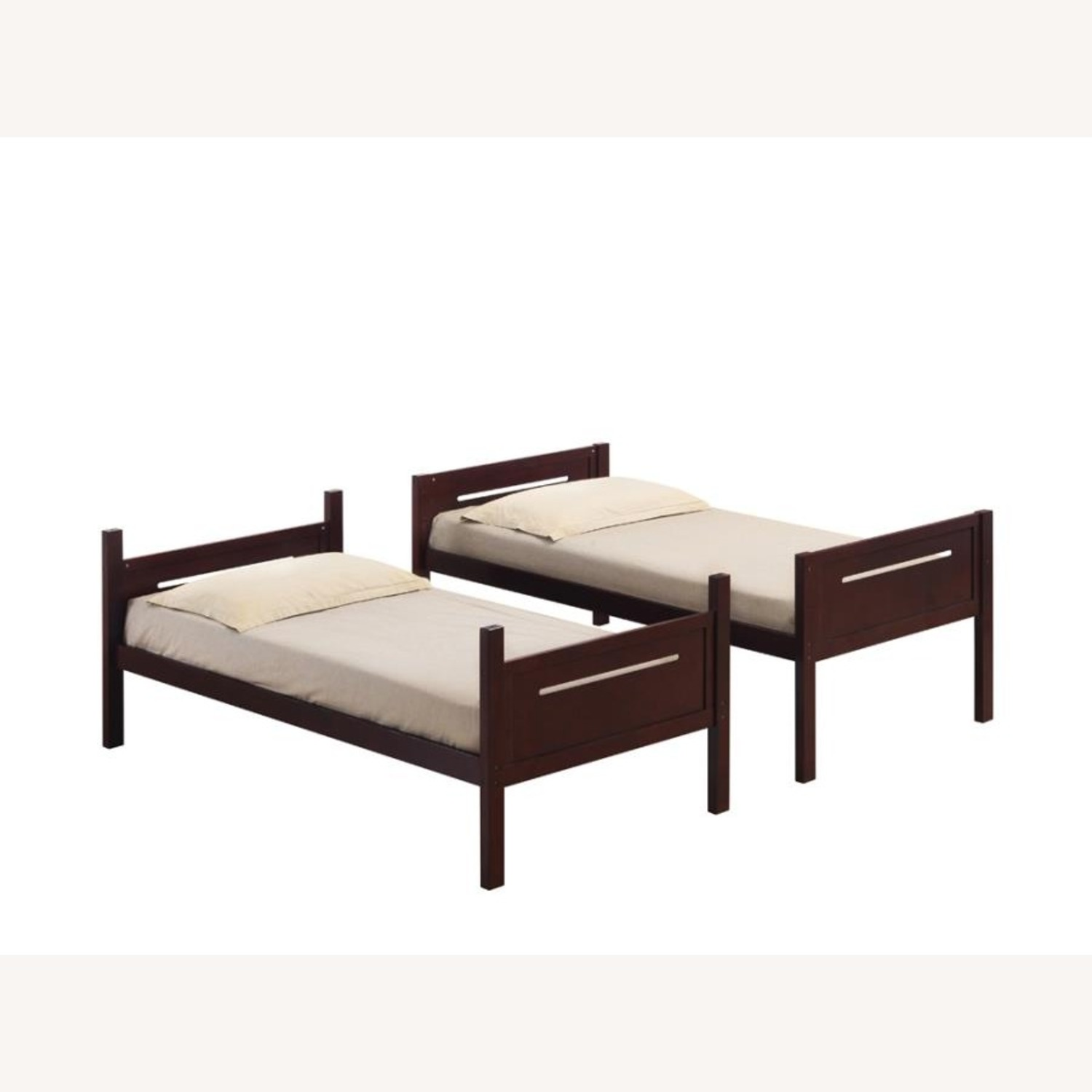 Bunk Bed In Espresso Solid Rubberwood Finish - image-3