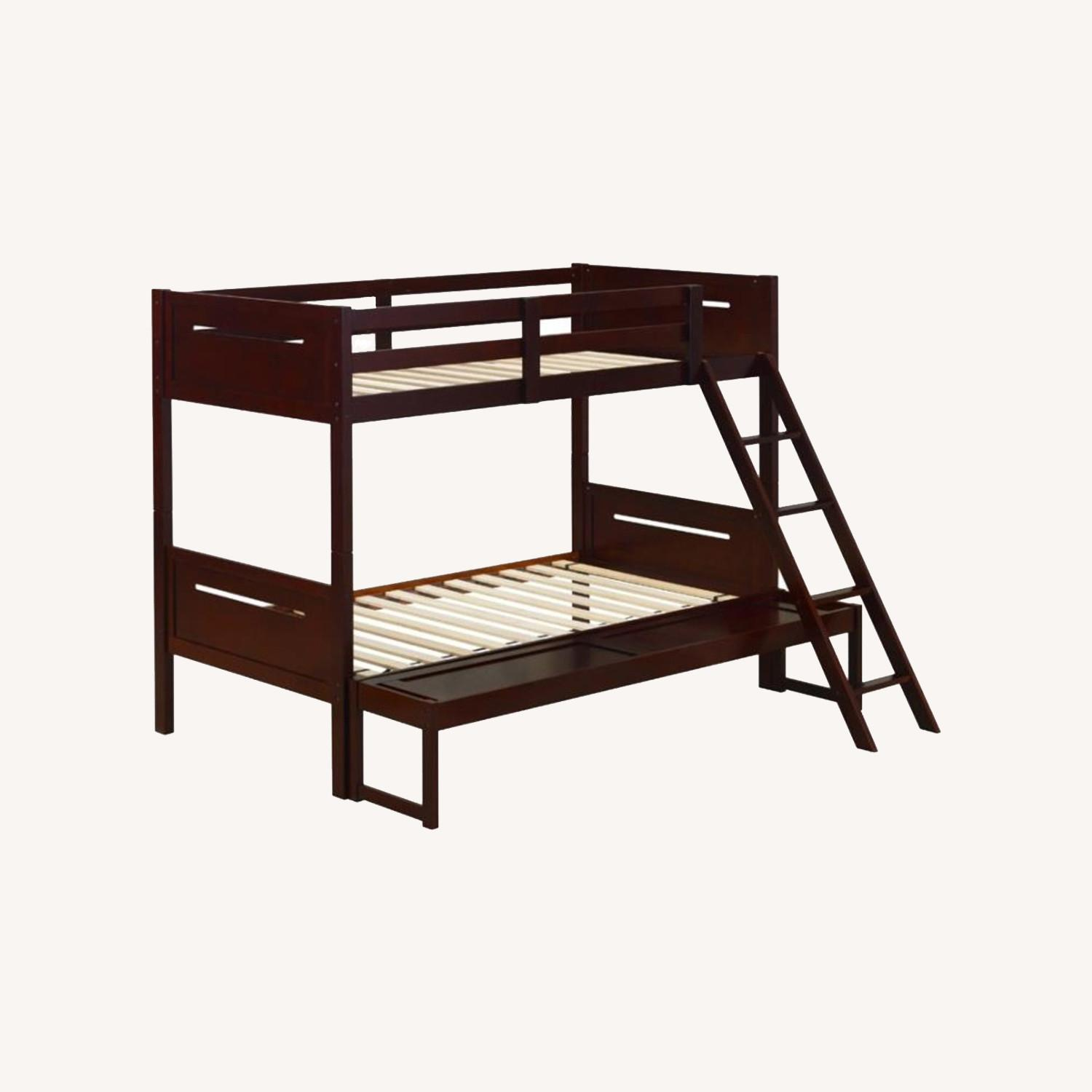 Twin Over Full Bunk Bed In Rubberwood Espresso - image-4