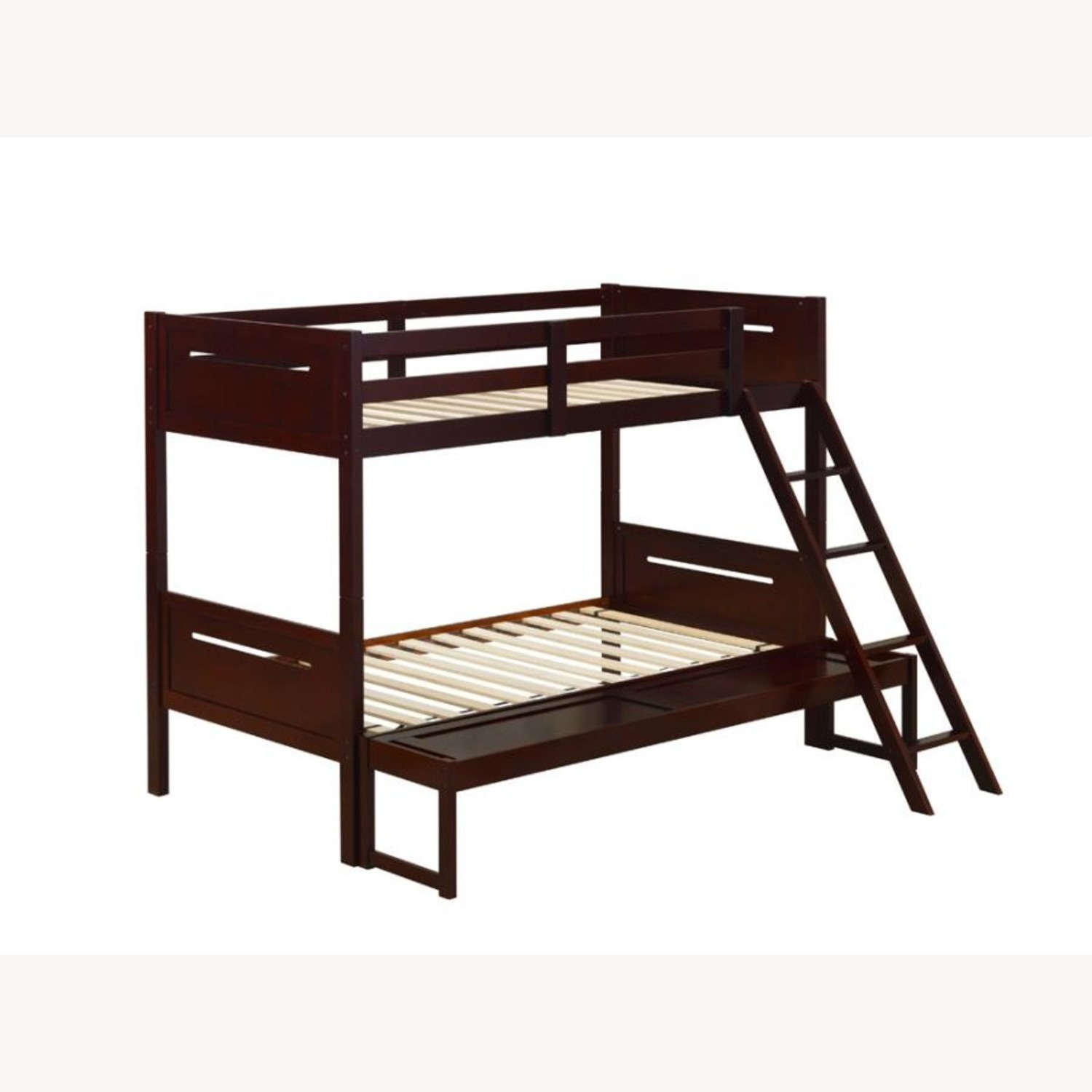 Twin Over Full Bunk Bed In Rubberwood Espresso - image-0