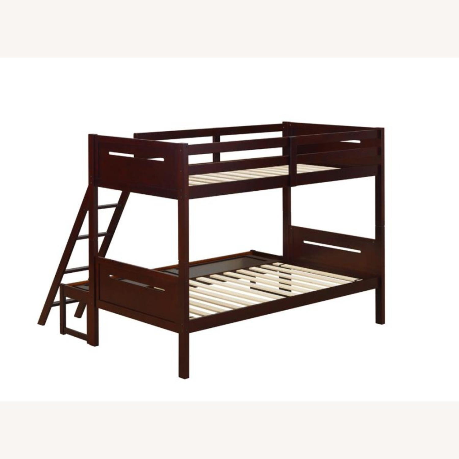 Twin Over Full Bunk Bed In Rubberwood Espresso - image-1