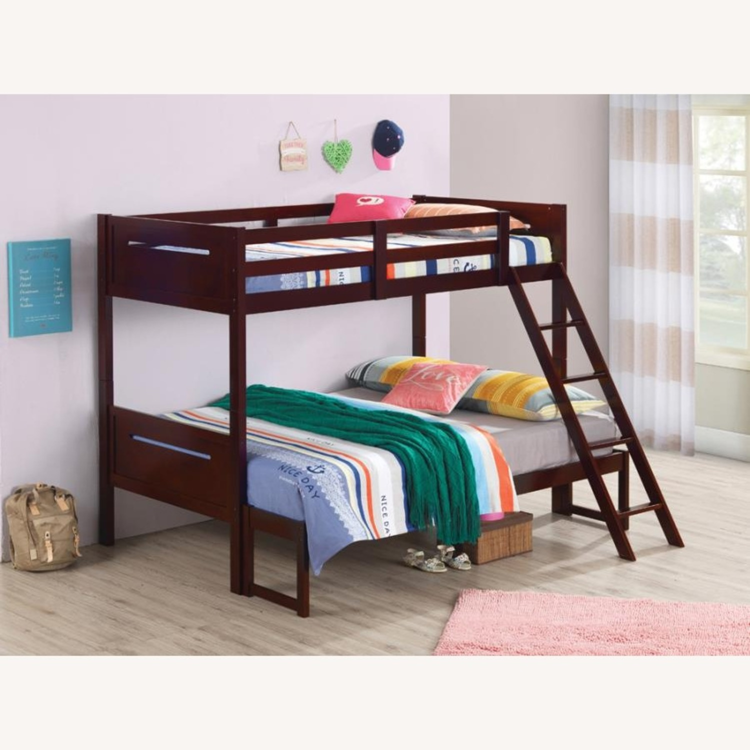 Twin Over Full Bunk Bed In Rubberwood Espresso - image-3