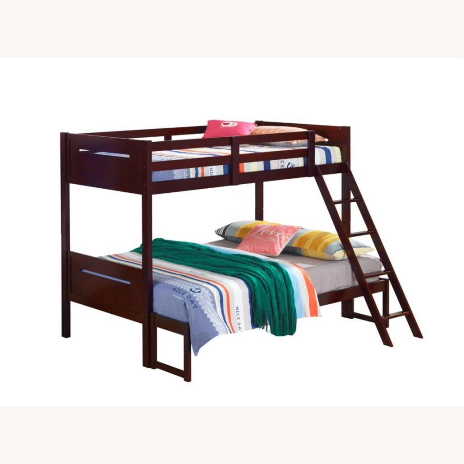 Twin Over Full Bunk Bed In Rubberwood Espresso - image-2