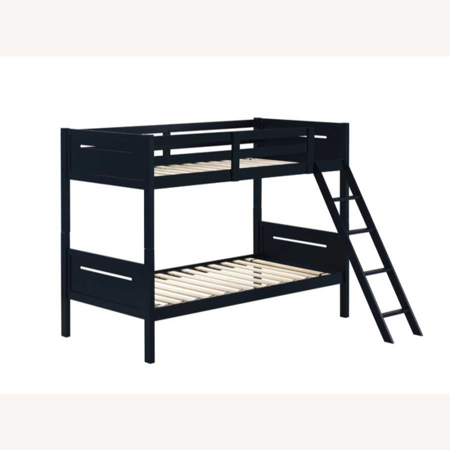 Bunk Bed In Blue Solid Rubberwood Finish - image-1