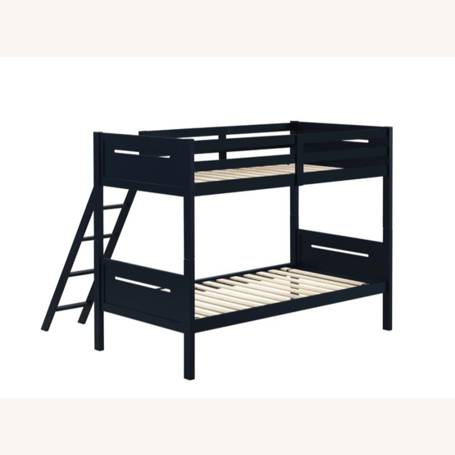 Bunk Bed In Blue Solid Rubberwood Finish - image-2