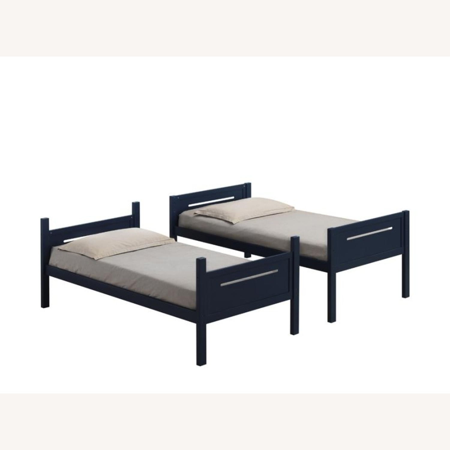 Bunk Bed In Blue Solid Rubberwood Finish - image-3