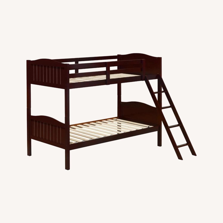 Bunk Bed In Espresso Finish W/ Guardrails - image-4