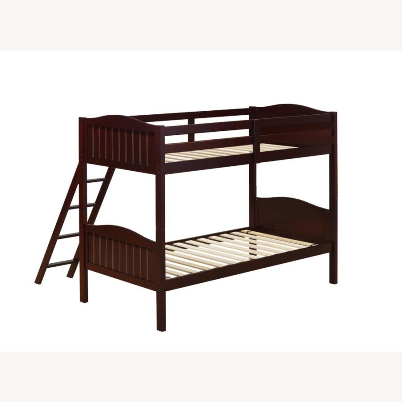 Bunk Bed In Espresso Finish W/ Guardrails - image-1