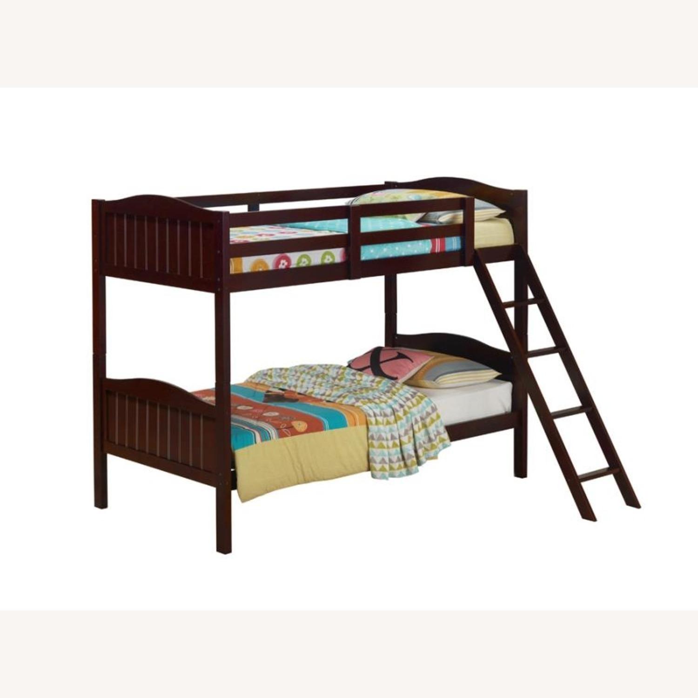 Bunk Bed In Espresso Finish W/ Guardrails - image-3