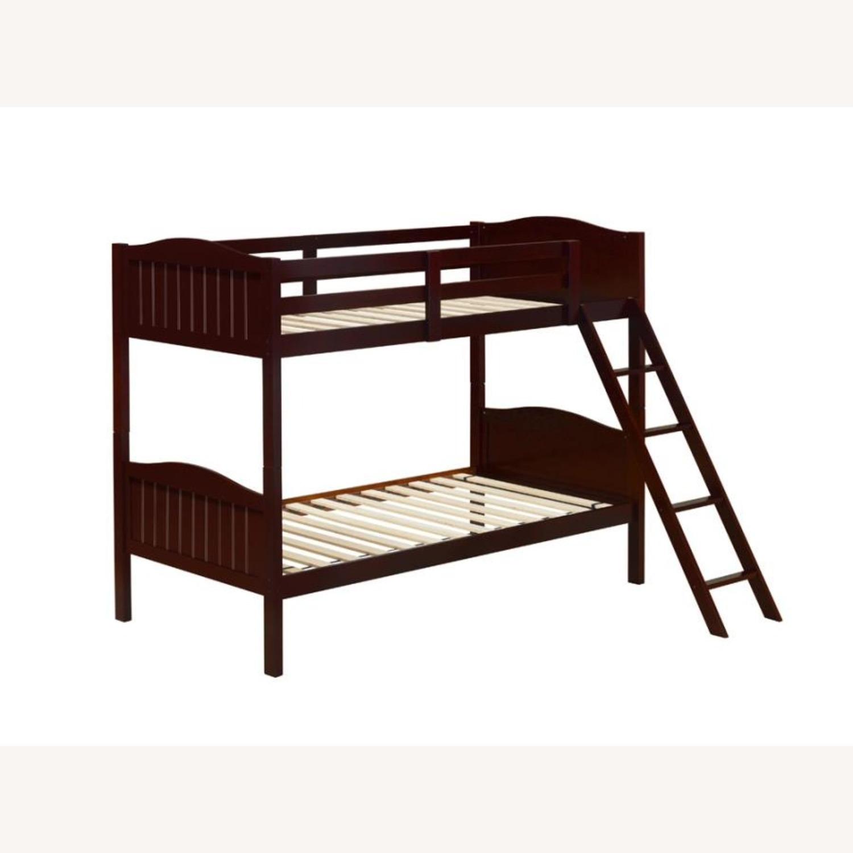 Bunk Bed In Espresso Finish W/ Guardrails - image-0
